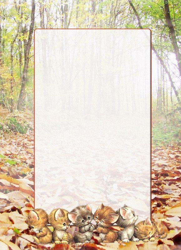 Papier a lettre automne hiver - Image automne gratuite imprimer ...