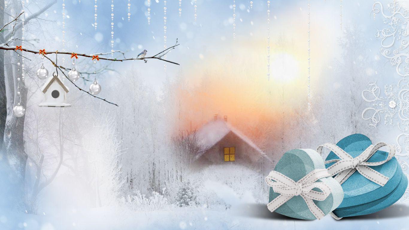 Fonds ecran automne hiver for Fond ecran noel